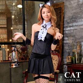 【返品交換不可商品】 ハロウィン コスプレ 衣装 猫 黒猫 ネコ 小悪魔 コスプレ衣装 セクシー コスチューム 猫耳 ねこ耳 変装 仮装 セット 大人 女性 レディース M 9号 可愛いコスプレ ハロウィン仮装 ハロウィン衣装 cosplay costume