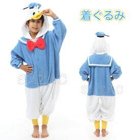 ハロウィン 衣装 子供 ディズニー ドナルドダック 子供用 着ぐるみ 110 ハロウィン 衣装 ドナルド ディズニー 公式 正規ライセンス品 パジャマ かわいい 可愛い SAZAC(サザック) フリース