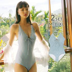 水着 レディース 体型カバー 大きいサイズ ワンピース水着 レースガウン付 2点セット ホワイト 星柄 おしゃれ ノンワイヤー パッドあり スカラップフリル ガーリー 可愛い オトナ女子 M L XL 2019新作水着