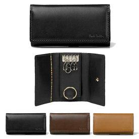 ポールスミス キーケース 4連キーケース キーリング 牛革 ブラック ブラウン キャメル Paul Smith メンズ ブランド 送料無料 正規品 新品 ギフト プレゼント オールドレザー P482 873215 PSC482