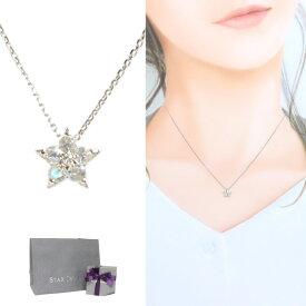 スタージュエリー ネックレス ホワイトゴールド レディース シンプル 星 ムーンストーン ダイヤモンド STAR JEWELRY ギフト プレゼント 記念日 2JN0762