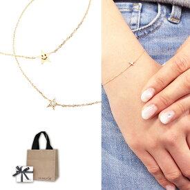 スタージュエリー ガール ブレスレット STAR JEWELRY girl ダイヤモンド スマイル スター イエローゴールド 2JU7102 プレゼント ギフト アクセサリー 誕生日 ブランド