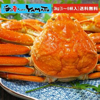 茹でズワイ蟹姿5〜6杯【3kg】