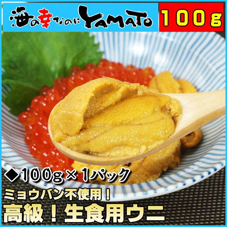 無添加 天然生ウニ100g ミョウバン不使用 2014年グルメ大賞受賞 うに 雲丹 海鮮丼 寿司 すし 寿司ネタ