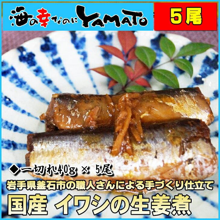 国産イワシの生姜煮 30g x5本入り 冷凍食品 簡単調理 いわし 鰯