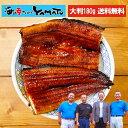 鹿児島で田中さんが無投薬で育てた鰻を炭火焼!特大鰻の蒲焼 1枚180g 八本木樽三年熟成醤油の特製鰻のタレ付き 長焼き…