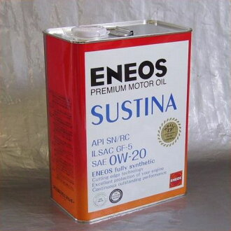 100% synthetic premium motor-oil ENEOS SUSTINA, 0W-20  4L