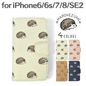 FLAPPER(フラッパー)フェイクレザーハリネズミ総柄手帳型iPhoneケース