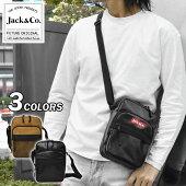 Jack&Co.ジャックアンドコーフェイクレザーメッシュポケットミニショルダーバッグ