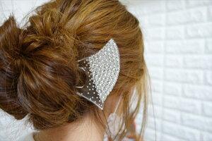 【簪 かんざし ばち型 クリア】髪飾り 浴衣 着物 和装 ヘアピン 結婚式 リボン コーム パール ピン 成人式 花魁