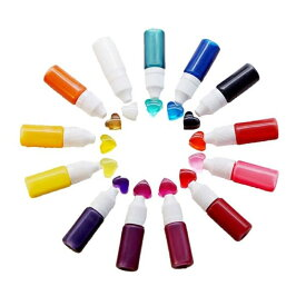 【UVレジンカラー剤 10ml 液状 着色料】シリコンモールド 2液性には△ LEDライト