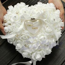 「リングピロー クリアボックス付き」クリアボックス付き リング ピロー ウエディング 結婚式 小物 ファーストピロー ウェディング サムシングブルー 上品 シンプル