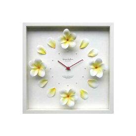 DISPLAY CLOCK FLOWER 【掛時計】クロック プルメリア/イエロー