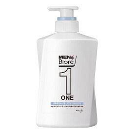 メンズビオレONE オールインワン全身洗浄料 フルーティーサボンの香り 本体(480mL)【メンズビオレ】