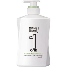 メンズビオレONE オールインワン全身洗浄料 ハーバルグリーンの香り 本体(480mL)【メンズビオレ】