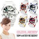 腕時計 Disney ディズニー ミッキー マウス デジタル ホワイト ラバーベルト スポーツ ミッキースポーツデジタル腕時計 (fa-NFC120009/13) アウトドア 50M防水 ライト機能