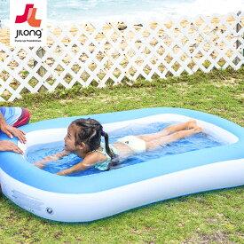 プール ベランダ 屋外 エアークッション 底面空気タイプ 163cm 大型プール バルコニー ビニールプール 長方形 ファミリープール ジャイアントベビープール 家庭用プール 子供 キッズプール 底面エアーで足やお尻に優しい造りです。 (JL-606684)【あす楽対応】