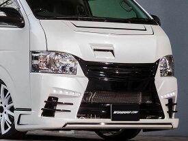 セカンドハウス ヴォーグN4【VOGUE N4】 フロントバンパースポイラー未塗装(フロントグリル一体) 200系ハイエース4型標準ボディ専用