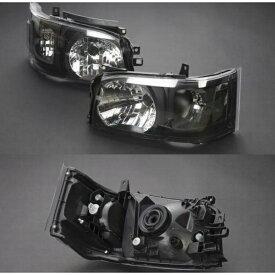 200系ハイエース1〜2型専用 リムコーポレーション DEPO製ヘッドライトAssy艶消ブラック 純正レベライザー移植モデル