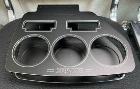 エセックス(ESSEX/CRS) ビレットフロントカップホルダー ブラック 200系ハイエース用