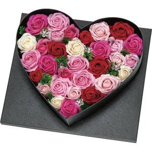 ソープフラワー デラックスハートアレンジ(LEDライト付)Mサイズ ピンク FDC9MHP 内祝い お返し お花 アレンジメント 造花 ギフト 贈り物【6日9:59までポイント10倍】