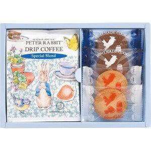 ピーターラビットTM コーヒー&スイーツギフト PSG-5 コーヒー ドリップコーヒー 珈琲お菓子 菓子折り 焼き菓子 詰め合わせ 個包装 キャラクター かわいい プチギフト ごあいさつ ご予算 500円