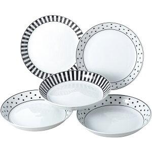 ノヴァ パスタ&カレー皿5枚セット 16120 内祝 洋食器 皿 お皿 プレート ギフト 贈り物 詰め合わせ セット【1日9:59までポイント10倍】