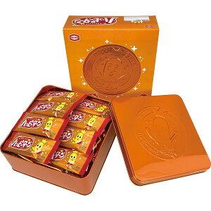 亀田製菓 ハッピーターン缶(24枚) 10066 お菓子 菓子折り お煎餅 せんべい 和菓子 焼き菓子 かしおり プチギフト 詰め合わせ 個包装 おかき お礼 ご挨拶 ごあいさつ