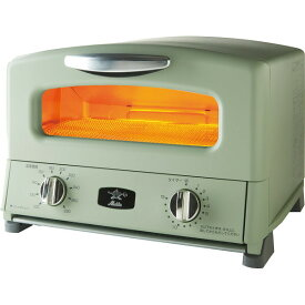 アラジン グリル&トースター グリーン AGT-G13AG キッチン雑貨 トースター インテリア雑貨 北欧 おしゃれ おすすめ 食パン 4枚焼き おいしく焼ける グリルパン付き おうち時間 あす楽