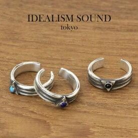 idealism sound リング,イデアリズムサウンド リング, SILVERトライアングルトゥリング ターコイズ,オニキス,ラピスラズリ  北欧トゥリング 通販
