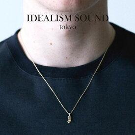 idealism sound イデアリズムサウンド SMALL FEATHER NECKLACE K10YG スモールフェザー ネックレス K10イエローゴールド