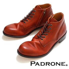 PADRONE パドローネ 再入荷完了 IN ZIP CHUKKA BOOTS CAMEL インジップ チャッカーブーツ キャメル