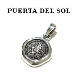 PUERTA DEL SOL プエルタデルソル Sealing Stamp Pendant シーリング スタンプ ペンダント SILVER シルバー