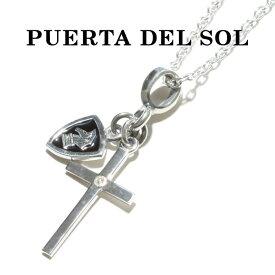 PUERTA DEL SOL プエルタデルソル Cross×Knight Necklace クロス ナイト ネックレス SILVER EPOXY DIAMONDO シルバー エポキシ ダイヤモンド