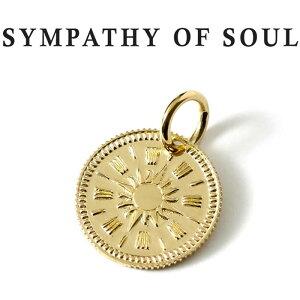 シンパシーオブソウル ペンダント ゴールド ホープ サン コイン チャーム メンズ レディース K18 リバーシブル ネックレストップ サイズ 太陽 男女兼用 ペンダント SYMPATHY OF SOUL Hope Sun Coin Charm