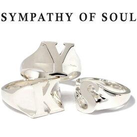 シンパシーオブソウル リング シルバー イニシャル アルファベット SYMPATHY OF SOUL Initial Ring Silver【正規商品 公式通販】