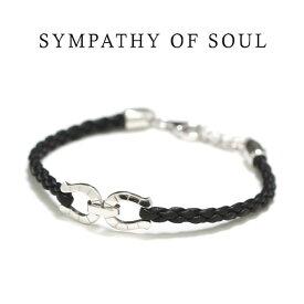 SYMPATHY OF SOUL シンパシーオブソウル Horseshoe Leather Bracelet Silver ホースシューレザーブレスレット シルバー【正規商品 公式通販】