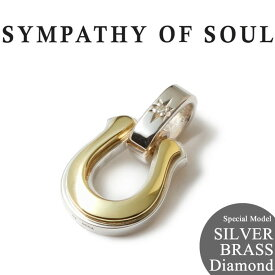 SYMPATHY OF SOUL シンパシーオブソウル 当店別注 Horseshoe Amulet Combination SILVER BRASS Diamond ホースシュー アミュレット コンビ シルバー 真鍮 ダイヤ 【正規商品 公式通販】