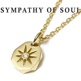 SYMPATHY OF SOUL シンパシーオブソウル Sun Plate Pendant K18Yellow Gold Diamond × 1.3mm Chain 太陽 サンプレート ネックレス K18ゴールド ダイヤモンド 【正規商品 公式通販】