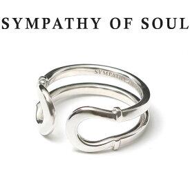シンパシーオブソウル リング シルバーダブル ホースシュー 指輪 馬蹄 SYMPATHY OF SOUL Double Horseshoe Ring Silver モダン Safari 雑誌掲載 男女兼用【正規商品 公式通販】