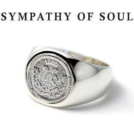 シンパシーオブソウル リング シルバー 硬貨 コイン クラシック 指輪 SYMPATHY OF SOUL Classic Coin Ring Good Luck Silver 男女兼用【正規商品 公式通販】