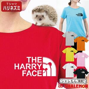 シャレもん ハリネズミ tシャツ 【 ハリー フェイス 選べる8カラー 】 おもしろ プレゼント 雑貨 グッズ ペット メンズ レディース キッズ アニマル しゃれもん