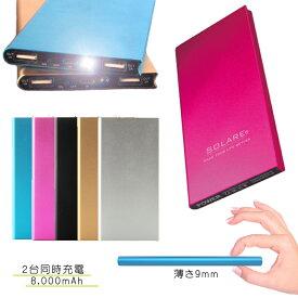 z1715 モバイルバッテリー 大容量 8000mAh バッテリー 充電器 スマホ 携帯 タブレット android アンドロイド
