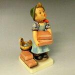 ゲーベル/GOEBELフンメル人形レンガを積む少女生産中止【中古】