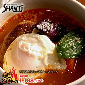 北海道札幌発祥のSHANTi(シャンティ)オリジナルスープカレーとハンバーグ<辛さ20ボーガ>激辛注意!!