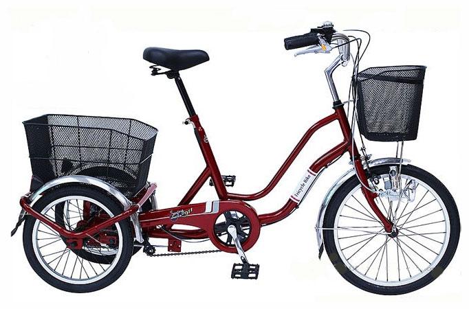 SWING CHARLIE ノーパンク三輪自転車 MG-TRW20NE (ワインレッド)