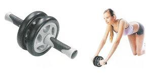 【腹筋ローラー】 YY ダブル腹筋ローラー BP-701TR  トレーニング器具 ローラー運動 腹筋運動 ダイエット 筋トレ 腕立て伏せ 腹筋マシン