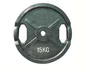 【代引き不可】【Φ28mmバーベルプレート】KANEYA ラバープレート28Φ 15kg(2枚組) KH-412