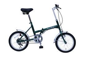 【ポイント10倍+クーポン配布:スーパーSALE】【5%還元店】【メーカー直送のため代引き不可】【折りたたみ自転車】Classic Mimugo FDB16G 16インチ折畳自転車 MG?CM16G