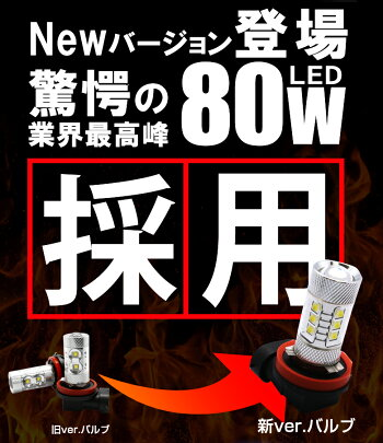 デリカD2MB36Sカスタム含むLEDフォグランプ(楽天フォグランプランキング常に受賞)H8H11H16対応フォグ80WLED仕様で実質12W級の明るさ!!CreeLED採用品LEDフォグ2個セットホワイトアンバー